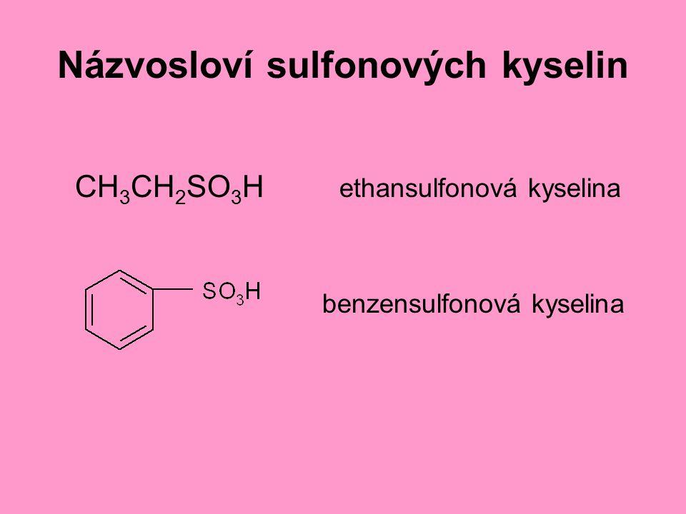 Názvosloví sulfonových kyselin