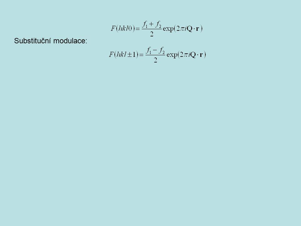 Substituční modulace: