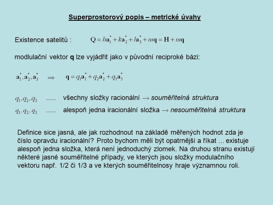 Superprostorový popis – metrické úvahy