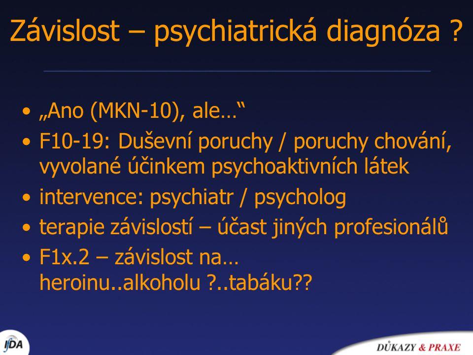 Závislost – psychiatrická diagnóza
