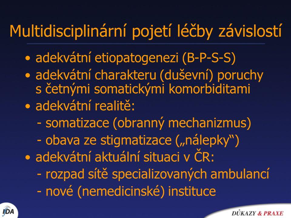Multidisciplinární pojetí léčby závislostí