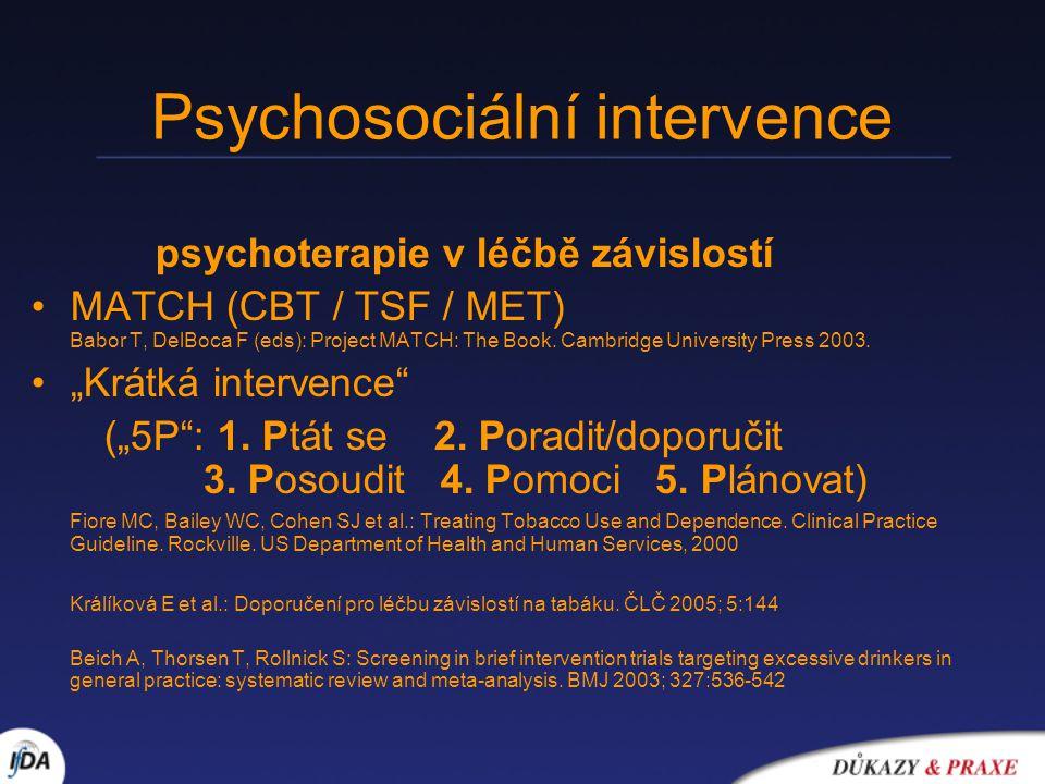 Psychosociální intervence