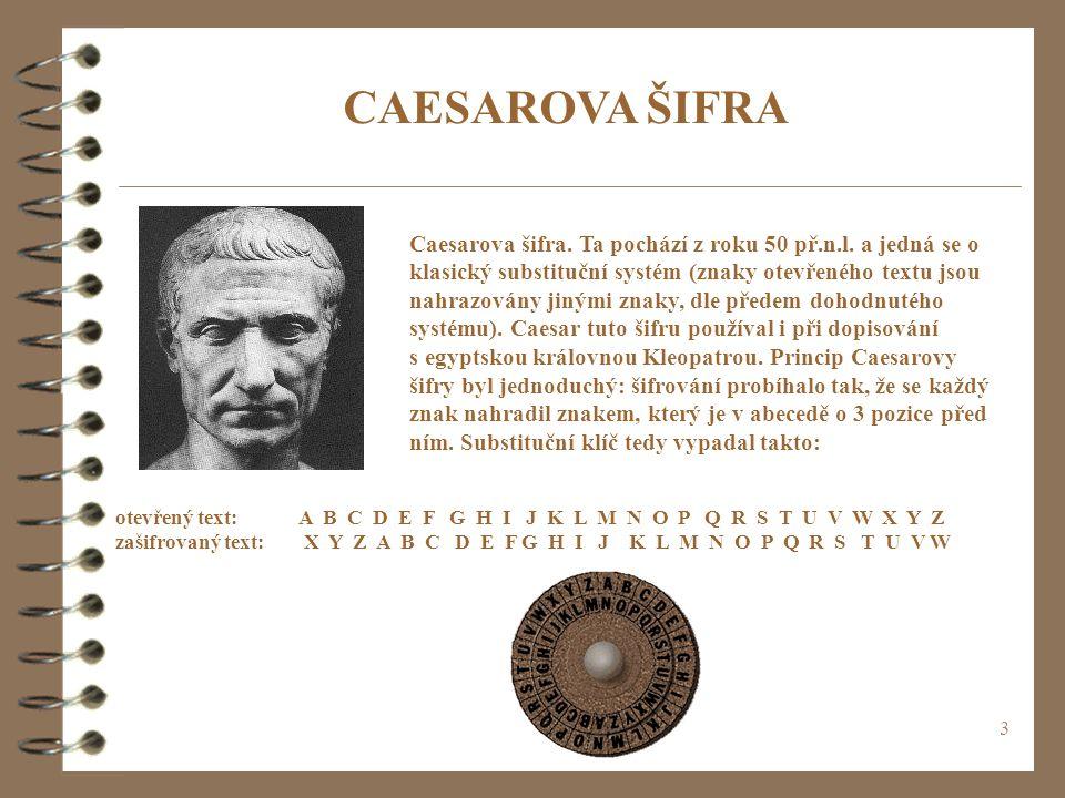 CAESAROVA ŠIFRA