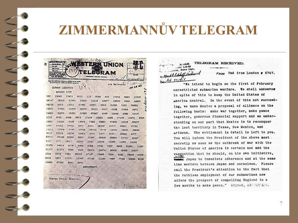 ZIMMERMANNŮV TELEGRAM