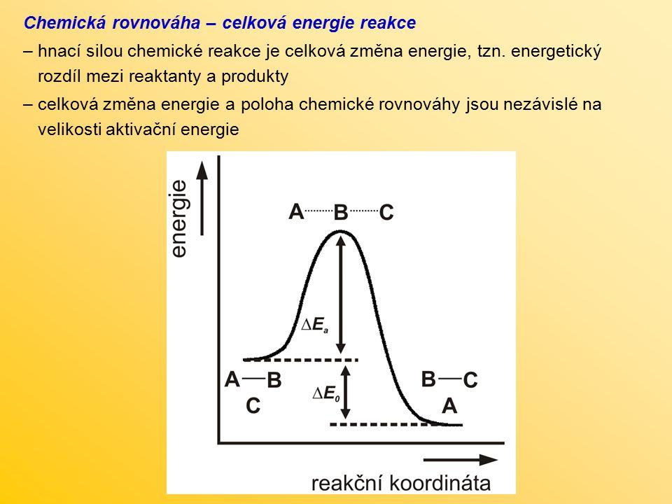 Chemická rovnováha – celková energie reakce