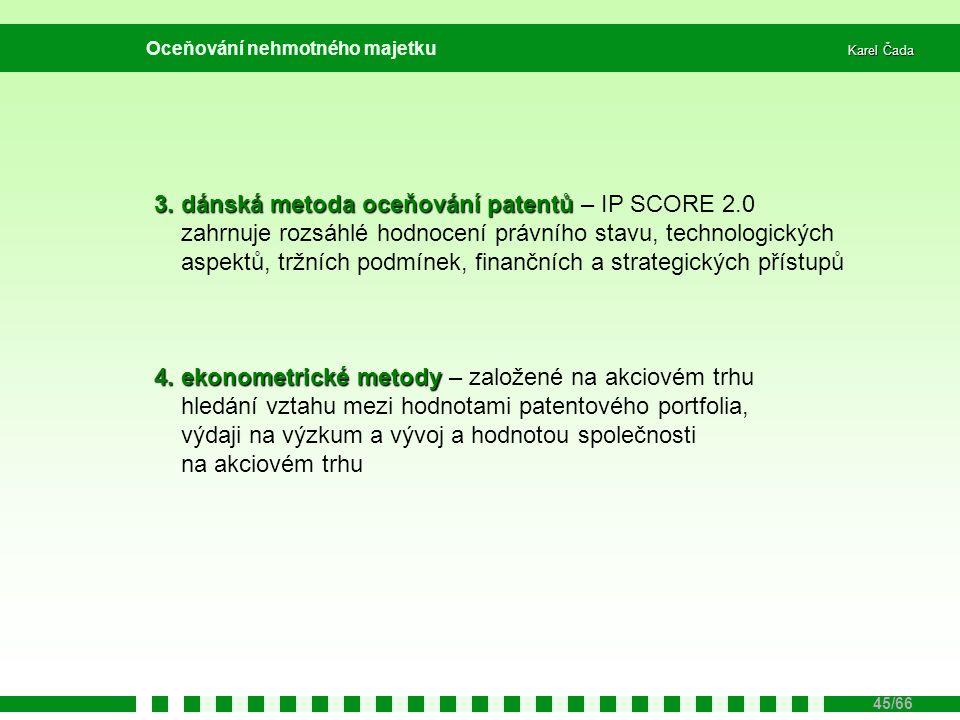 3. dánská metoda oceňování patentů – IP SCORE 2.0