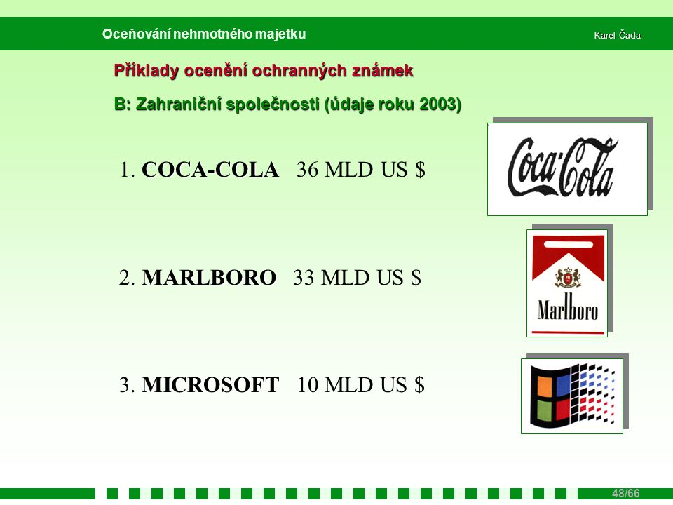 1. COCA-COLA 36 MLD US $ 2. MARLBORO 33 MLD US $
