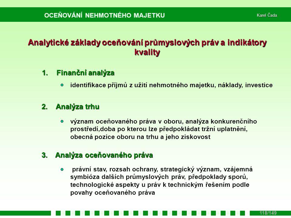 Analytické základy oceňování průmyslových práv a indikátory kvality
