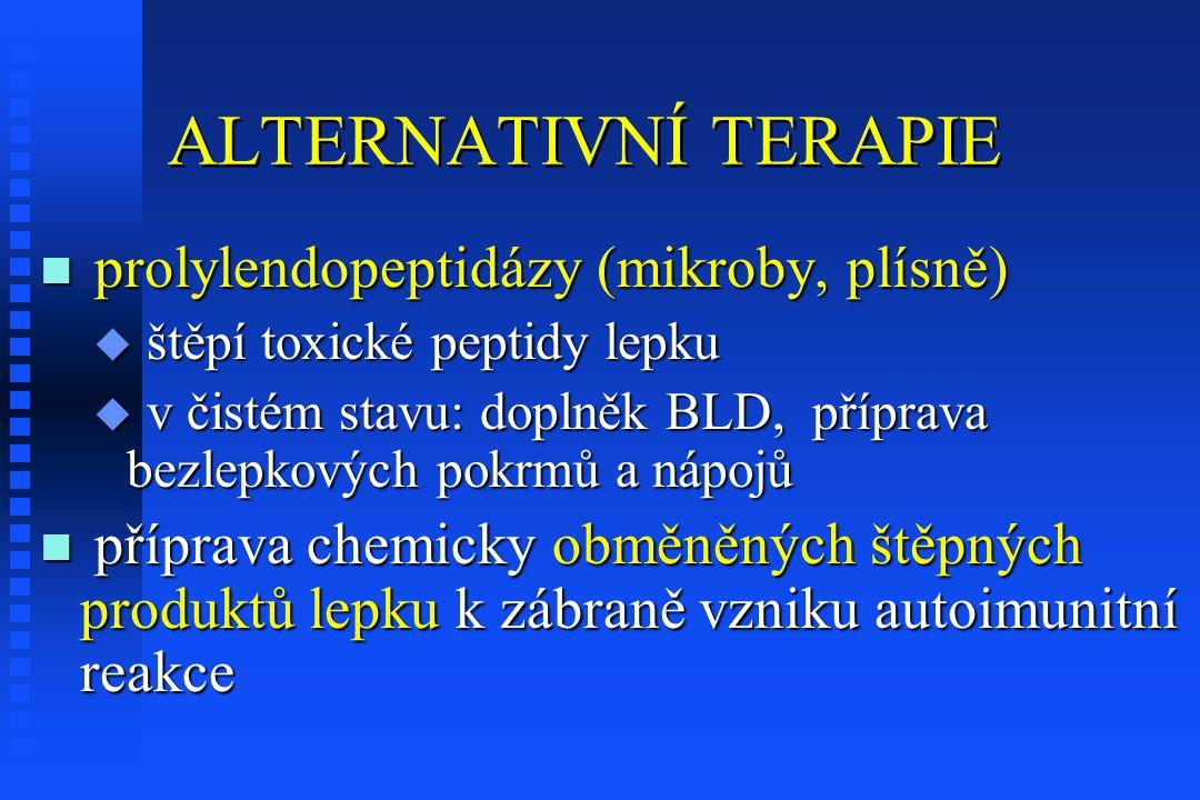 ALTERNATIVNÍ TERAPIE prolylendopeptidázy (mikroby, plísně)