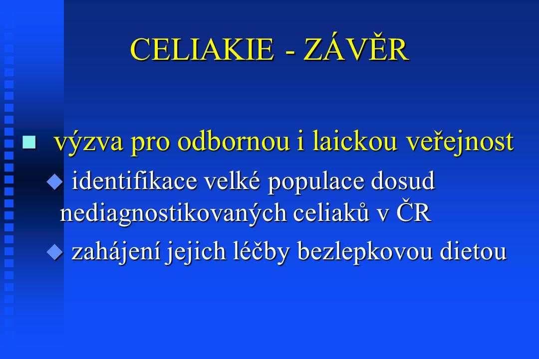 CELIAKIE - ZÁVĚR výzva pro odbornou i laickou veřejnost