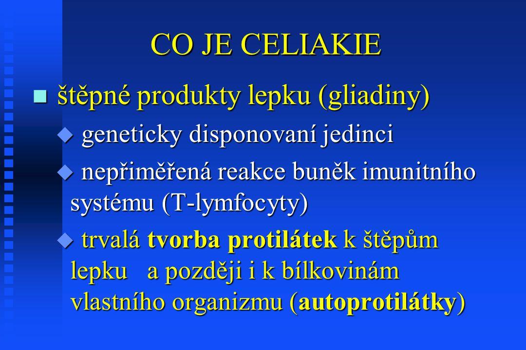CO JE CELIAKIE štěpné produkty lepku (gliadiny)