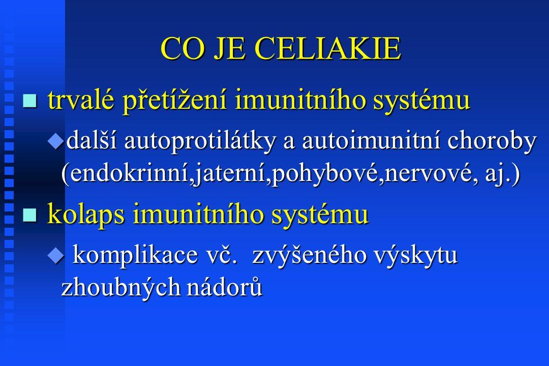CO JE CELIAKIE trvalé přetížení imunitního systému