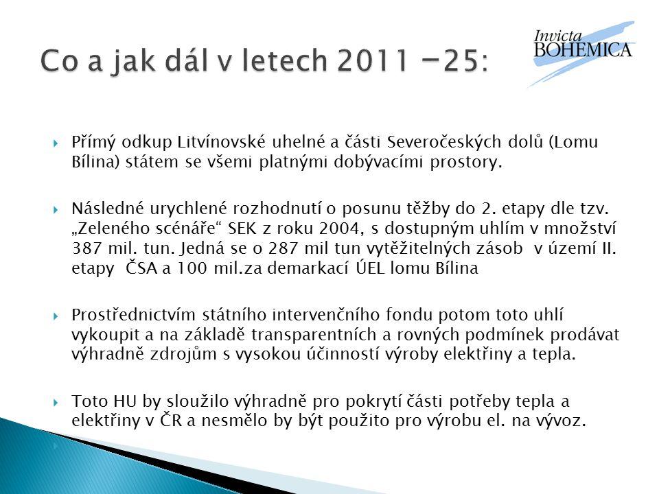 Co a jak dál v letech 2011 -25: