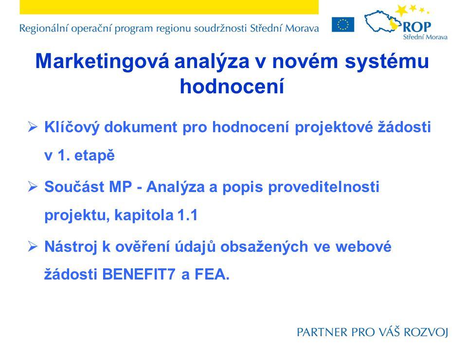 Marketingová analýza v novém systému hodnocení