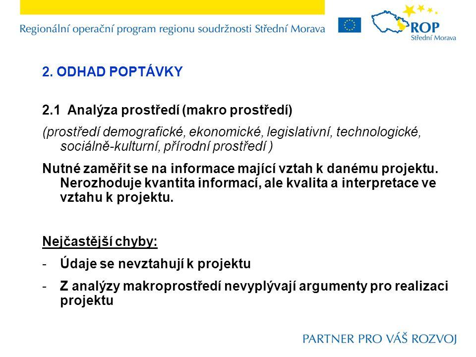 2. ODHAD POPTÁVKY 2.1 Analýza prostředí (makro prostředí)