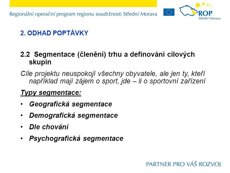 2.2 Segmentace (členění) trhu a definování cílových skupin