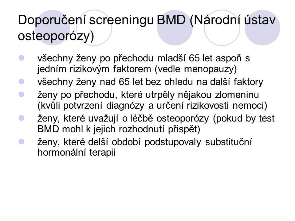 Doporučení screeningu BMD (Národní ústav osteoporózy)