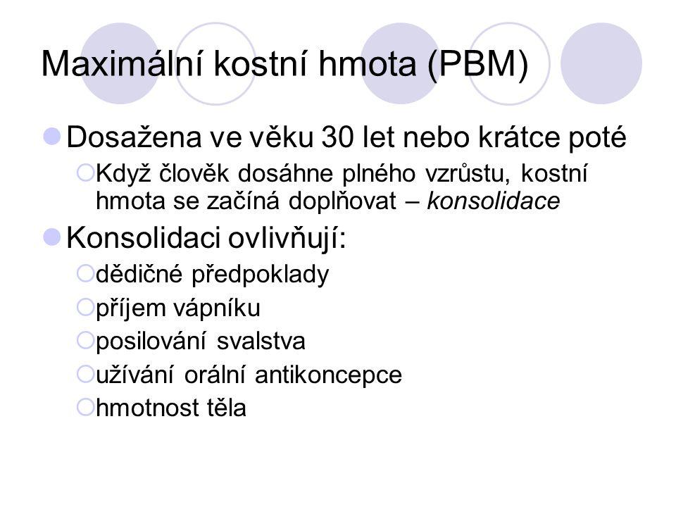 Maximální kostní hmota (PBM)