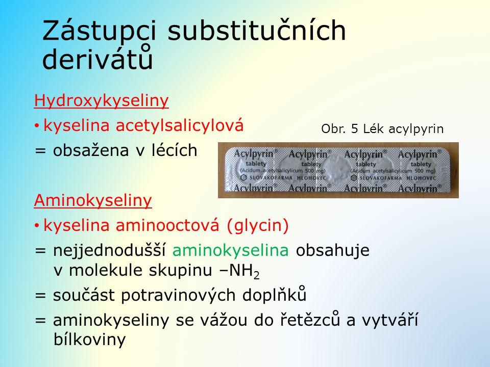 Zástupci substitučních derivátů