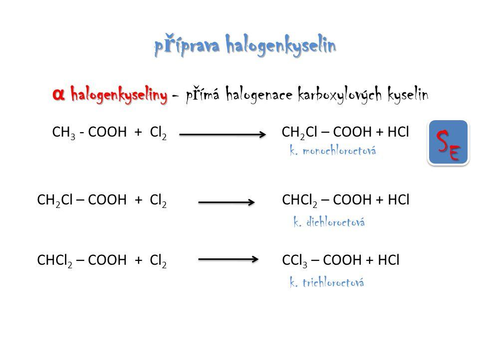 SE příprava halogenkyselin