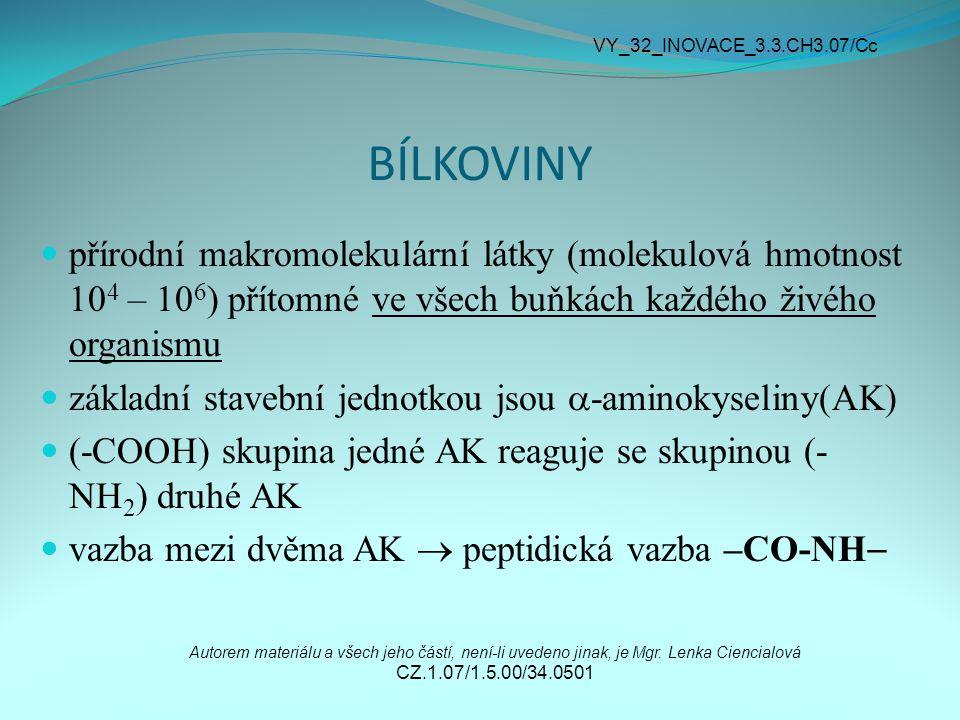 VY_32_INOVACE_3.3.CH3.07/Cc BÍLKOVINY.