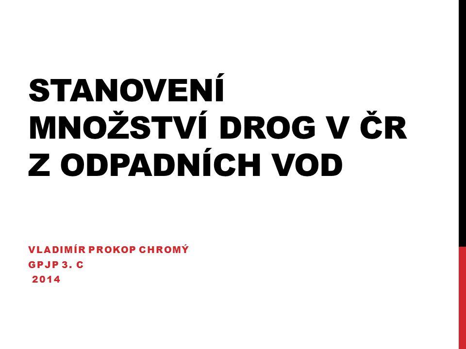 Stanovení množství drog v ČR z odpadních vod