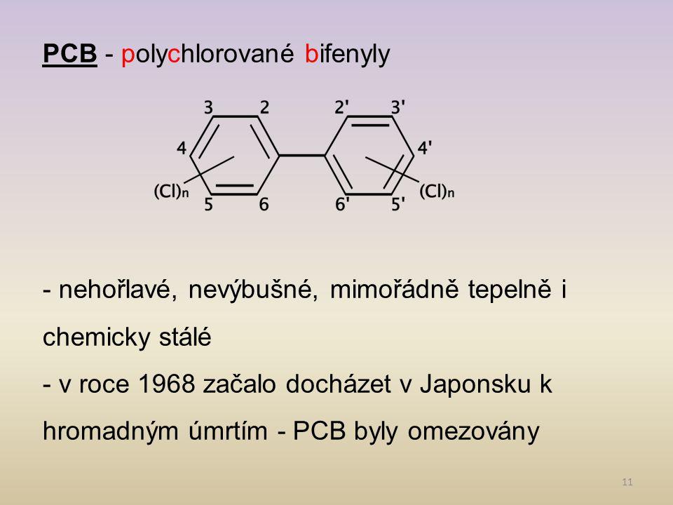 PCB - polychlorované bifenyly