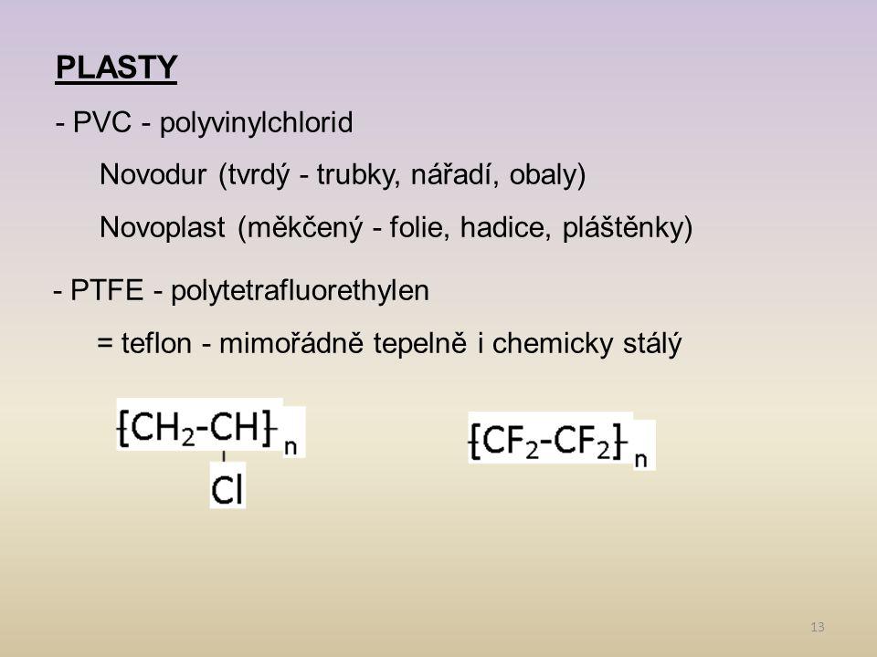 PLASTY - PVC - polyvinylchlorid