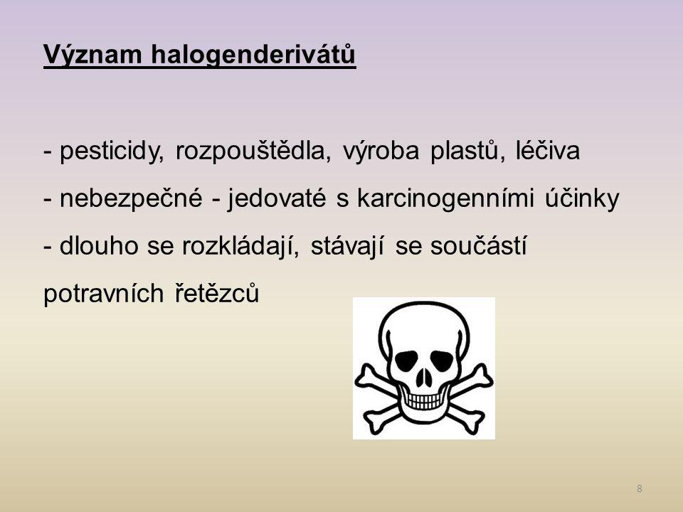 Význam halogenderivátů
