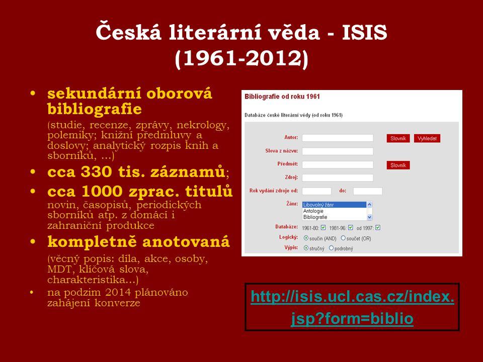 Česká literární věda - ISIS (1961-2012)