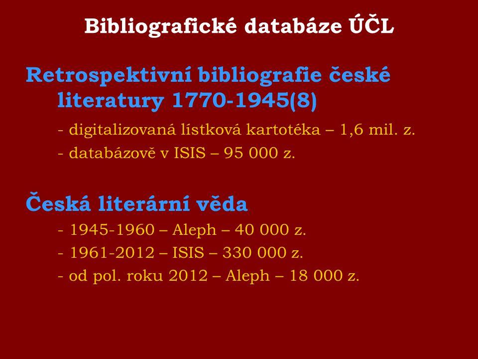Bibliografické databáze ÚČL