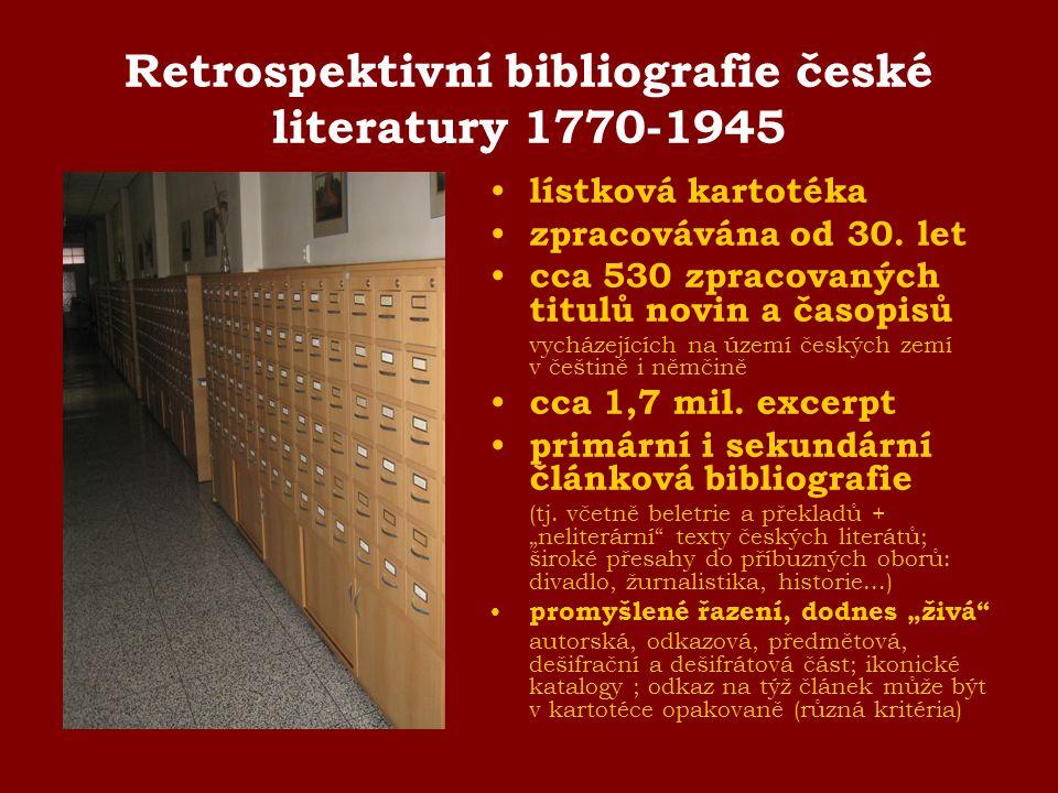 Retrospektivní bibliografie české literatury 1770-1945