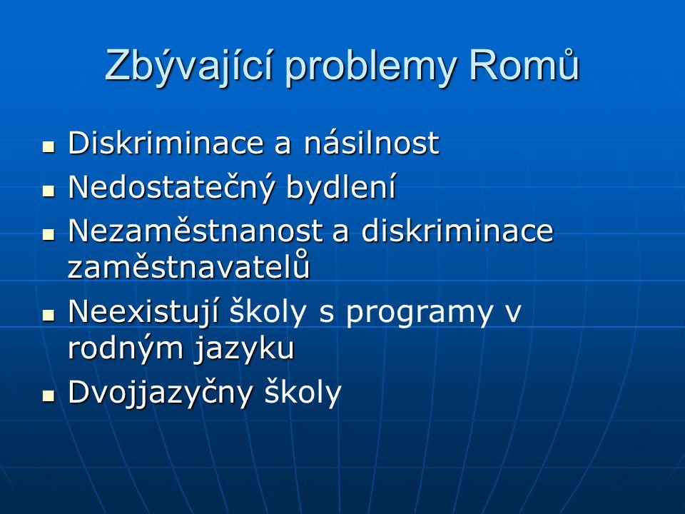 Zbývající problemy Romů