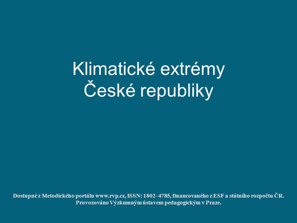 Klimatické extrémy České republiky