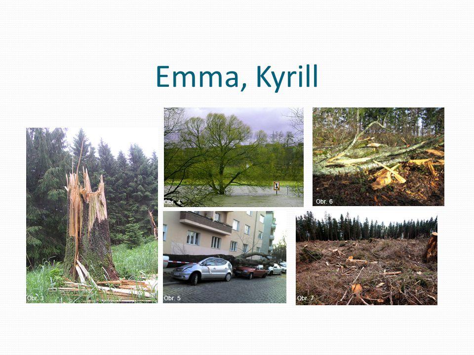 Emma, Kyrill Obr. 4 Obr. 6 Obr. 3 Obr. 5 Obr. 7