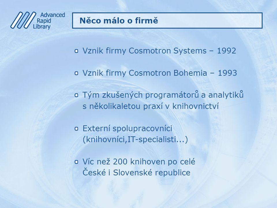 Vznik firmy Cosmotron Systems – 1992
