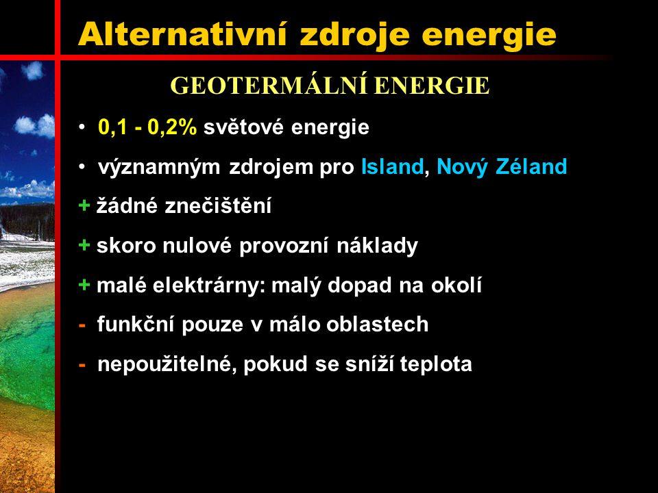 Alternativní zdroje energie