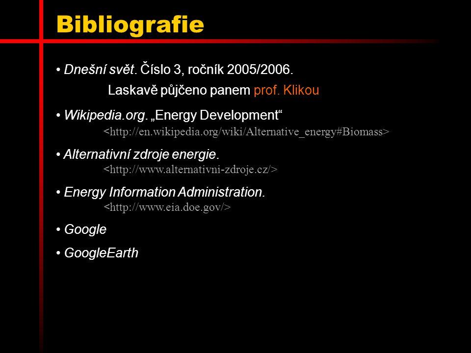 Bibliografie Dnešní svět. Číslo 3, ročník 2005/2006. Laskavě půjčeno panem prof. Klikou.