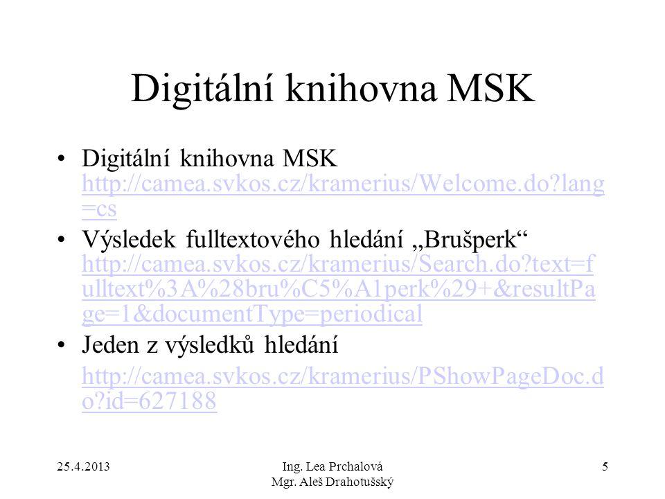 Digitální knihovna MSK