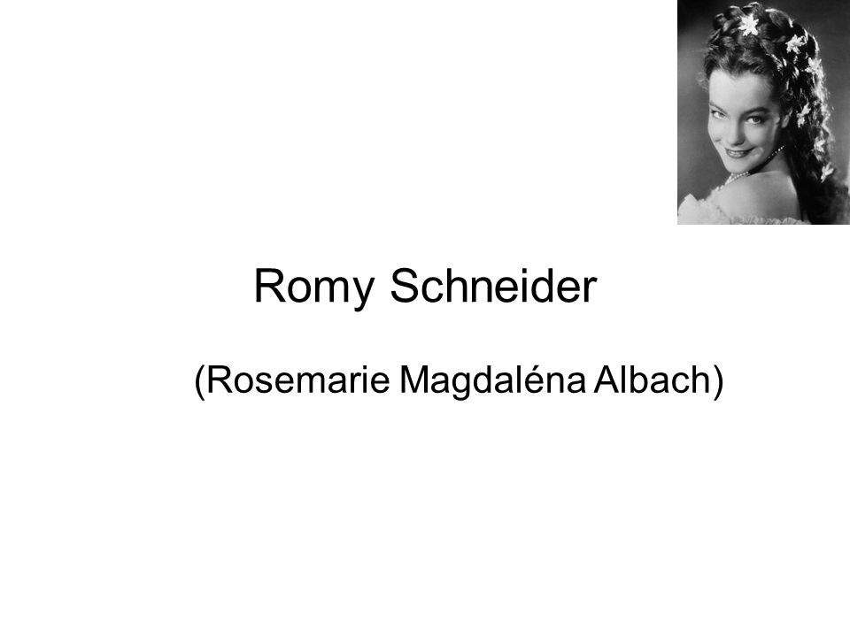 (Rosemarie Magdaléna Albach)