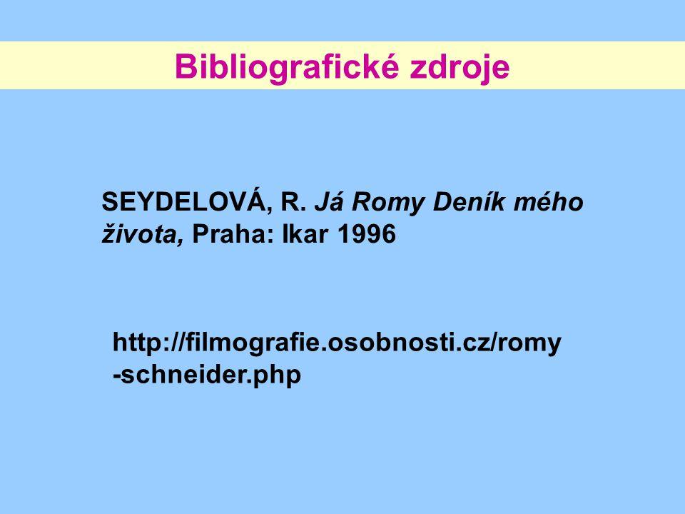 Bibliografické zdroje