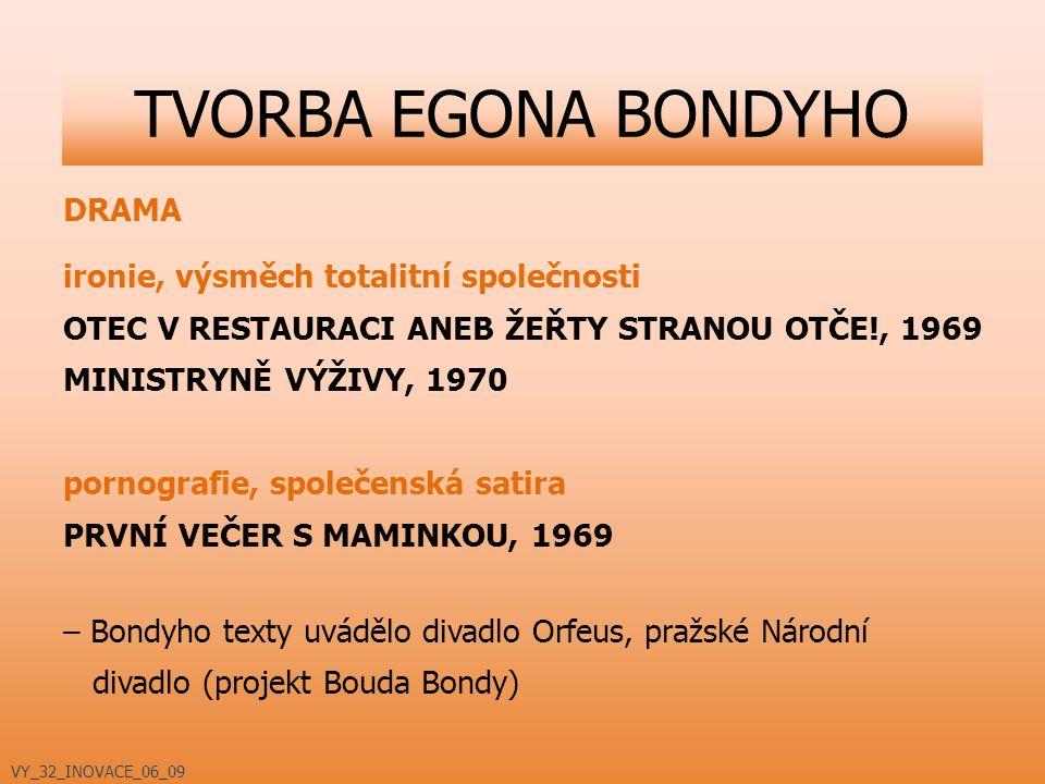 TVORBA EGONA BONDYHO