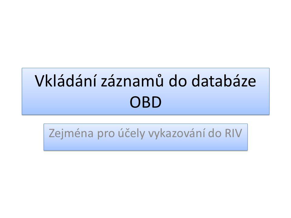 Vkládání záznamů do databáze OBD