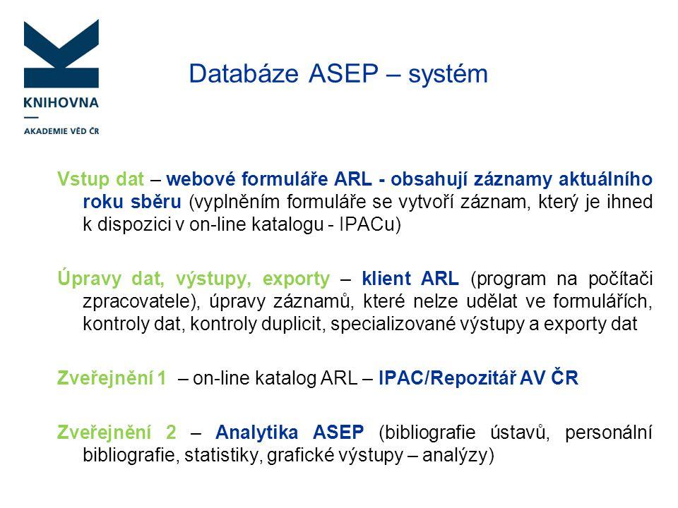 Databáze ASEP – systém
