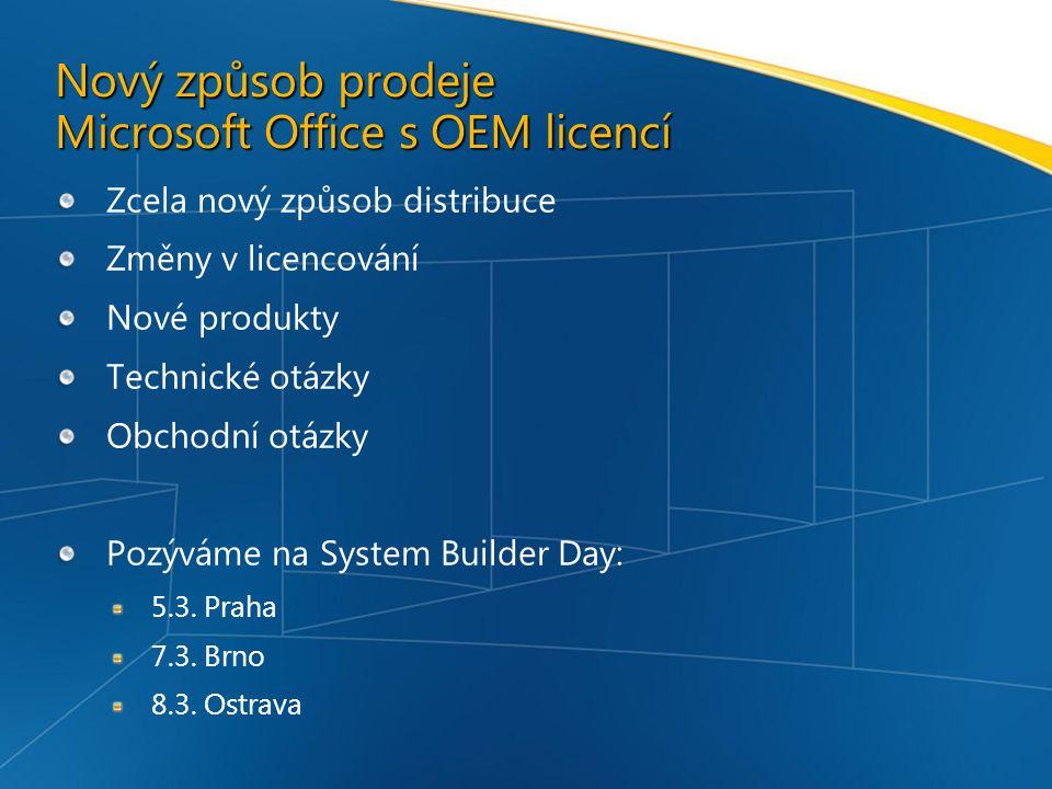 Nový způsob prodeje Microsoft Office s OEM licencí