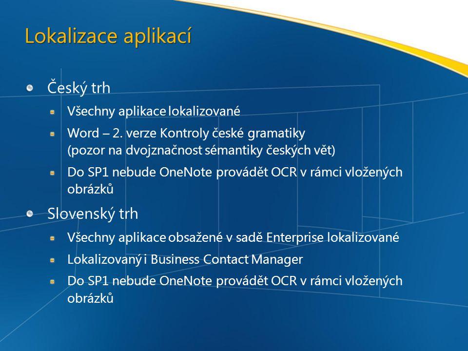 Lokalizace aplikací Český trh Slovenský trh