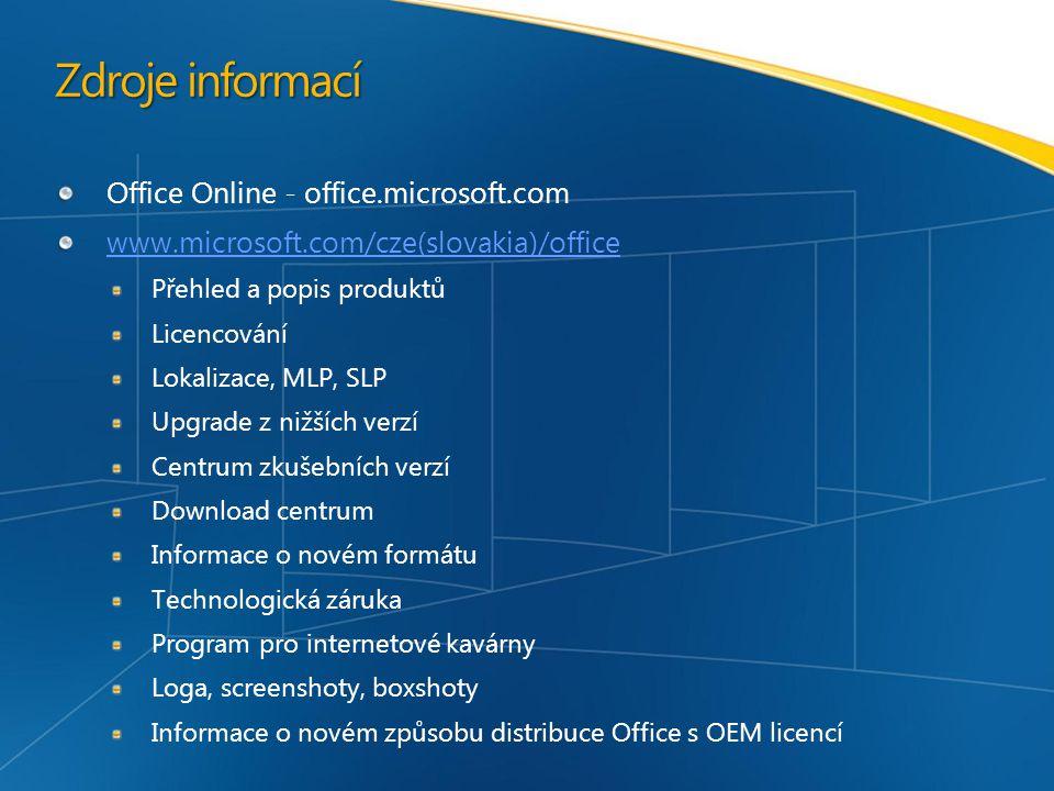 Zdroje informací Office Online - office.microsoft.com