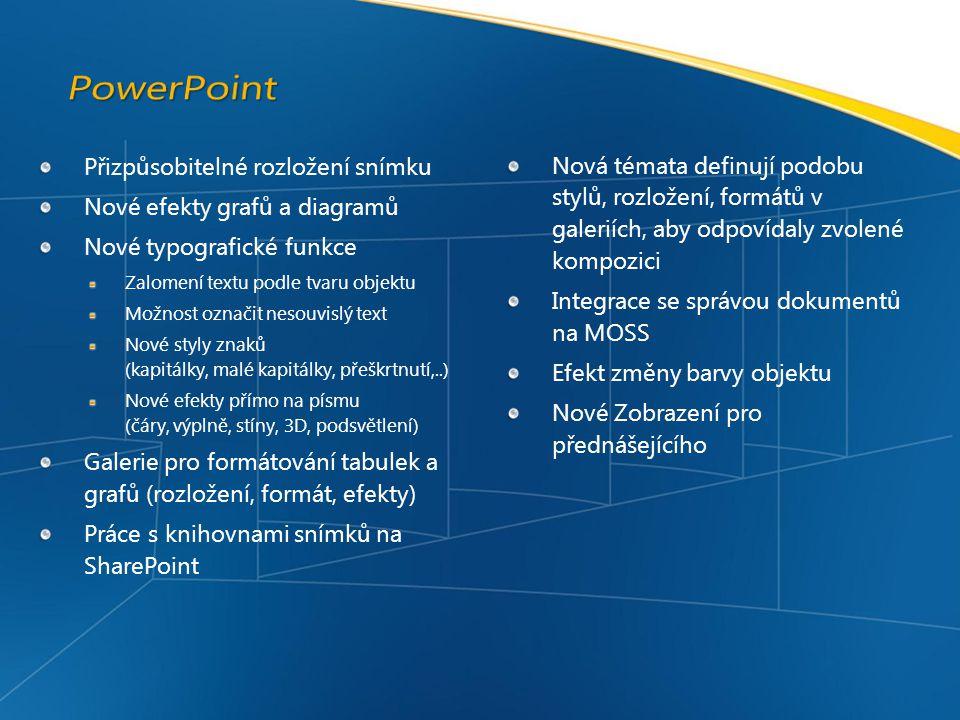 PowerPoint Přizpůsobitelné rozložení snímku