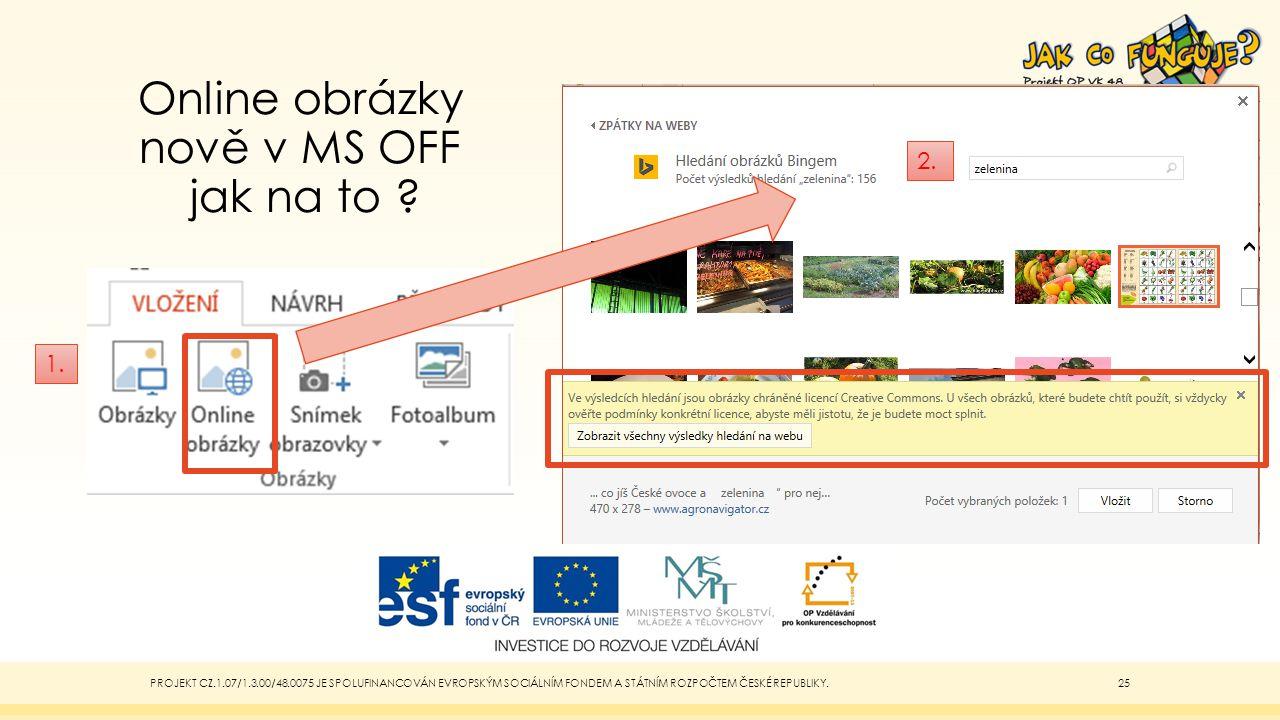 Online obrázky nově v MS OFF jak na to