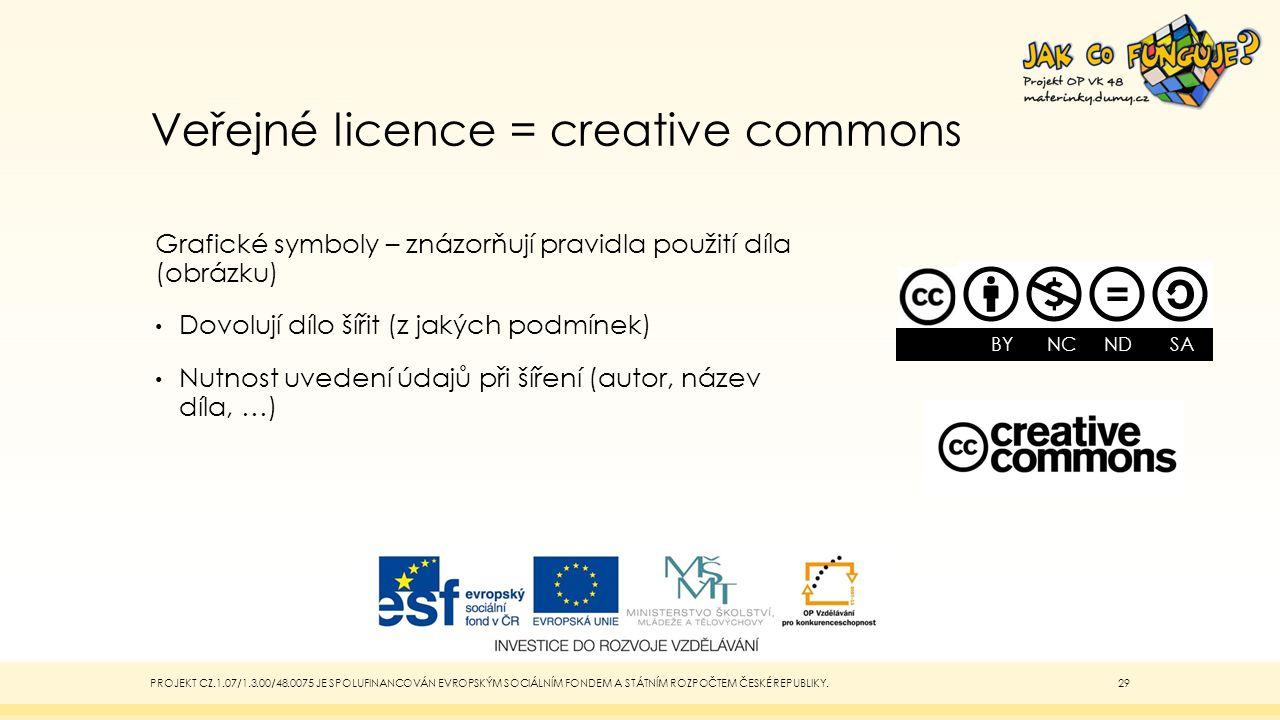 Veřejné licence = creative commons